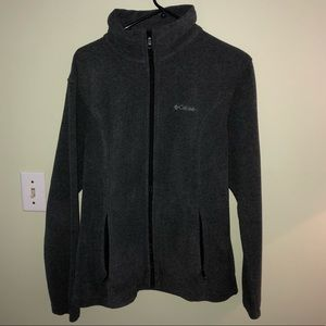 Columbia Dark Grey Fleece Full Zip Large